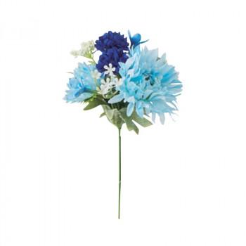 アーティフィシャルフラワー フランソワガーベラミックスピック ブルー 36本セット FD3309 アレンジメント [ラッピング不可][代引不可][同梱不可]