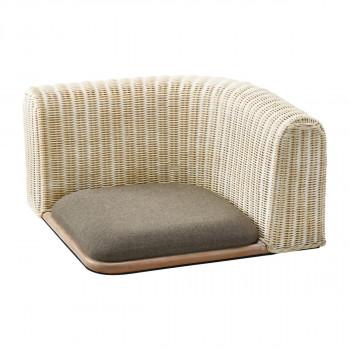 HOMEDAY 座椅子 WHW(ホワイトウォッシュ) RA-803 [ラッピング不可][代引不可][同梱不可]