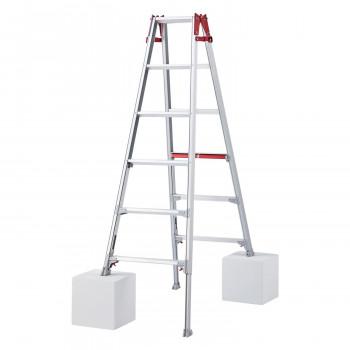 立ったまま伸縮可能 はしご兼用脚立 (脚部伸縮式) RYH-18a [ラッピング不可][代引不可][同梱不可]