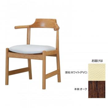 MIKIMOKU ミキモク チェア HYC-02 WNA(オーク) ホワイト(PVC) [ラッピング不可][代引不可][同梱不可]