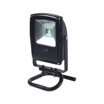 黒 LEN-F10S-BK 床スタンド式 13002 LEDフラットライト 10W