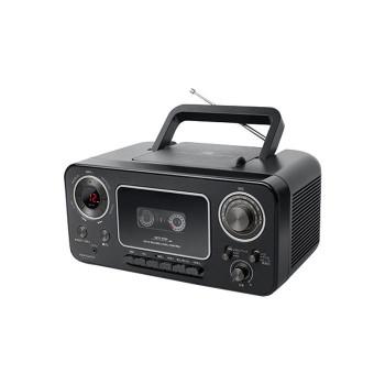 アナバス CDラジオカセットレコーダー ブラック CD-C300BK 198433-149 [ラッピング不可][代引不可][同梱不可]