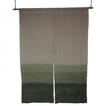 麻のれん ろうふぶき3色ぼかし 丈150cm 緑 約巾88×丈150cm [ラッピング不可][代引不可][同梱不可]