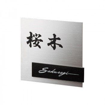 福彫 表札 スタイリッシュチタン DK301P [ラッピング不可][代引不可][同梱不可]