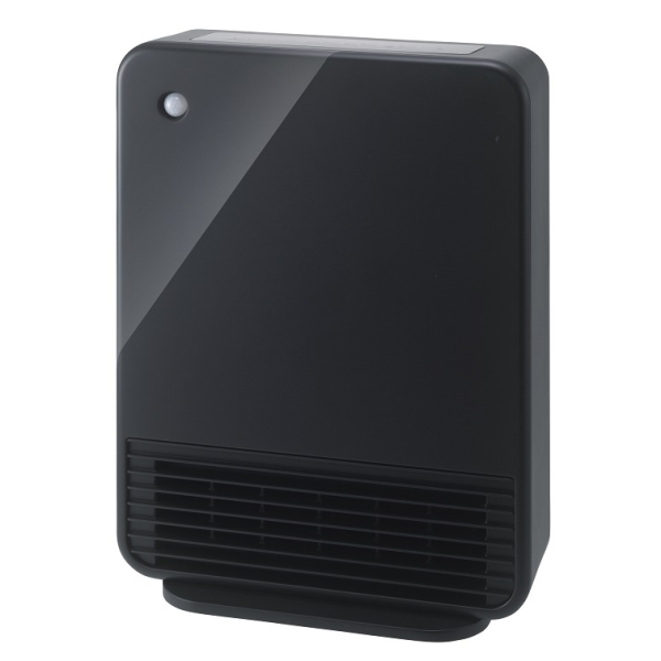 人感センサー付 大風量セラミックヒーター「マキシムヒート」 クリアブラック CH-T1960BK [キャンセル・変更・返品不可][海外発送不可]