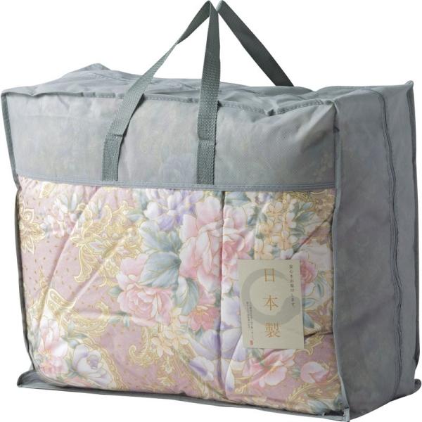 日本製羽毛布団バッグ入り ピンク BUF-1301 [キャンセル・変更・返品不可]