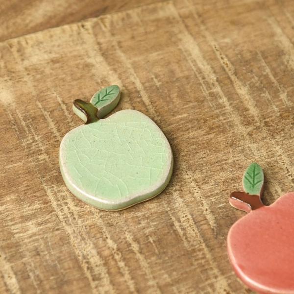 土作りの箸置き りんご 青リンゴ [キャンセル・変更・返品不可]