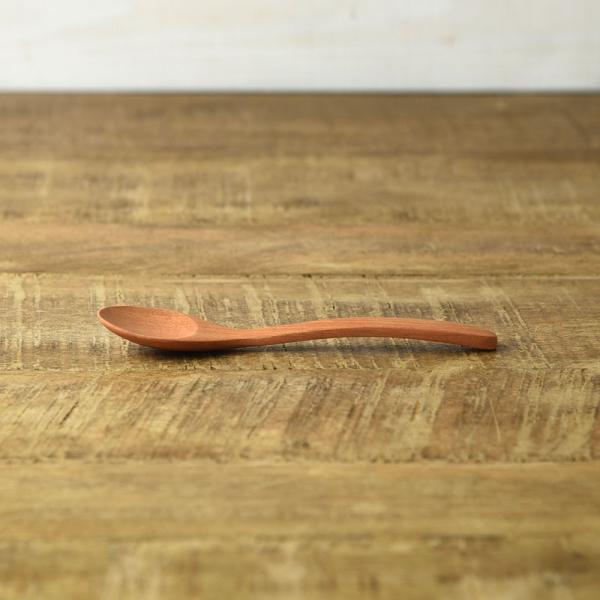 サオ素材のすべすべ木のカトラリー 15cmスプーン [キャンセル・変更・返品不可]