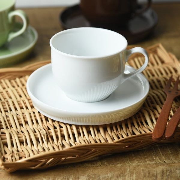 LATTE cup & saucer milk white [cancellation, change, returned goods  impossibility]