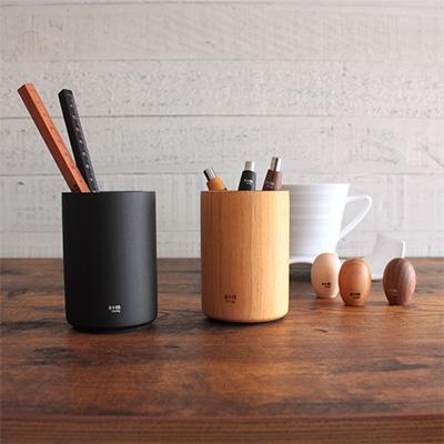 イープラスエム e+m / 木製 ペンスタンド ペン立て Pot Potblly(120)