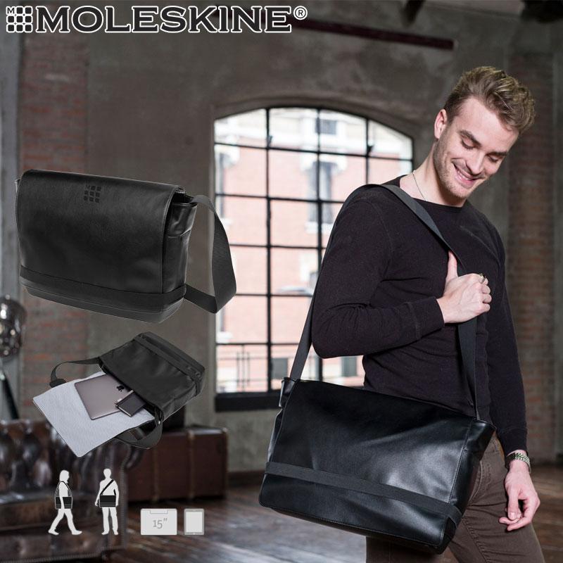 【モレスキン バッグ】モレスキン MOLESKINE クラシックメッセンジャーバッグ ブラック(713952)(5181171)【メッセンジャーバッグ 斜めがけ バッグ メンズ レディース ビジネス 大人】