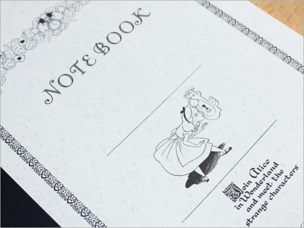 燕笔记本Disney×燕笔记本/不可思议的国家的爱丽丝爱丽丝花纹笔记本(/30张A5尺寸)TBM-8243