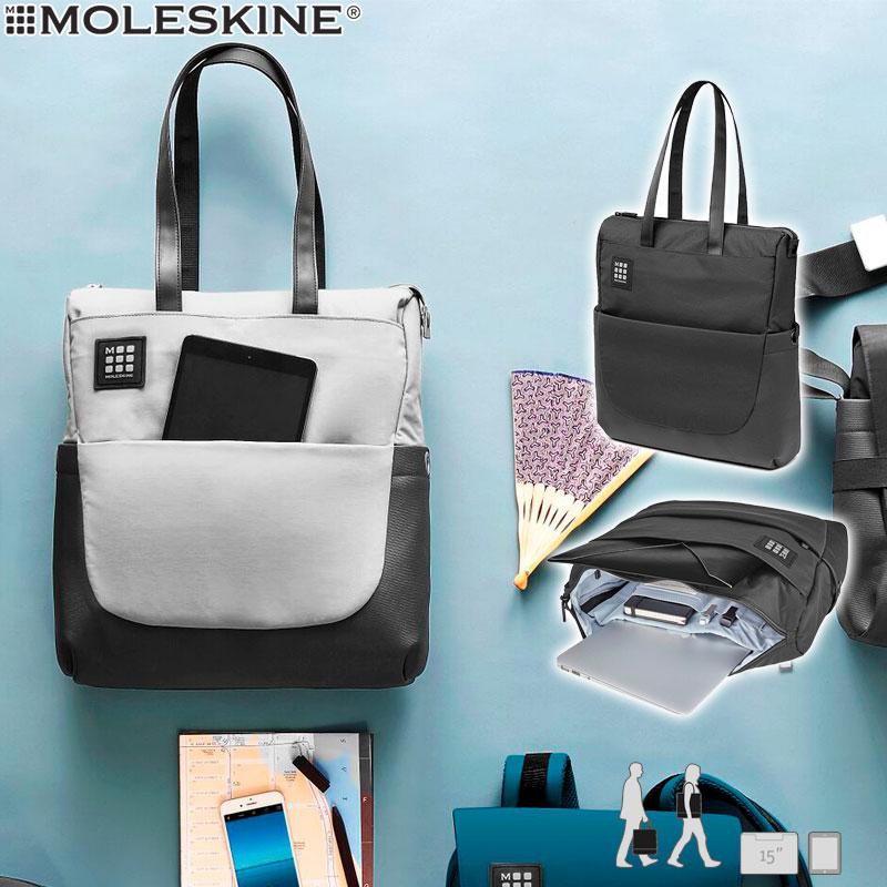 【モレスキン バッグ】モレスキン ID トートバッグ ブラック(854979)(5180233)MOLESKINE【トートバッグ メンズ レディース ビジネス 大人】