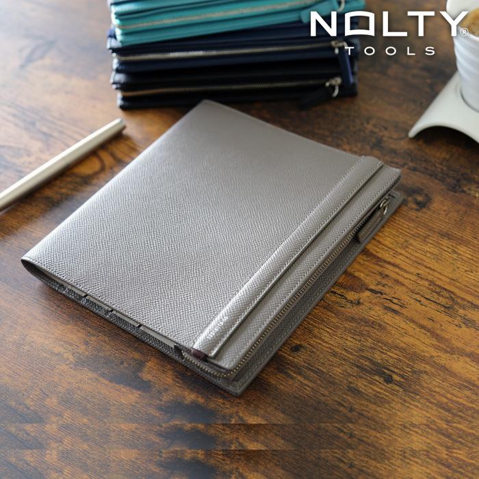 NOLTY TOOLS / セオリア B6ジャケット ペンケースタイプ(ベージュグレー)(ST12-2)【手帳カバー ノートカバー B6 本革 デザイン おしゃれ ギフト】