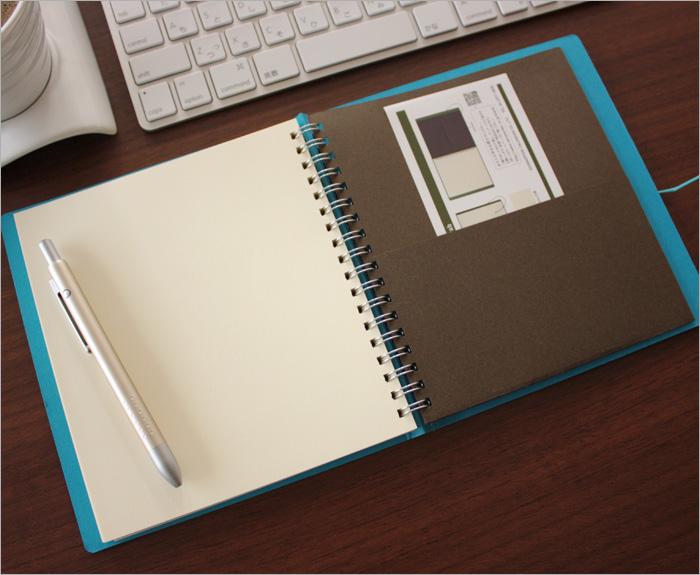 kureido kleid/线泰国笔记本String-tie notebook环笔记本(素色)棕色条纹布/淡蓝色(No.8878)