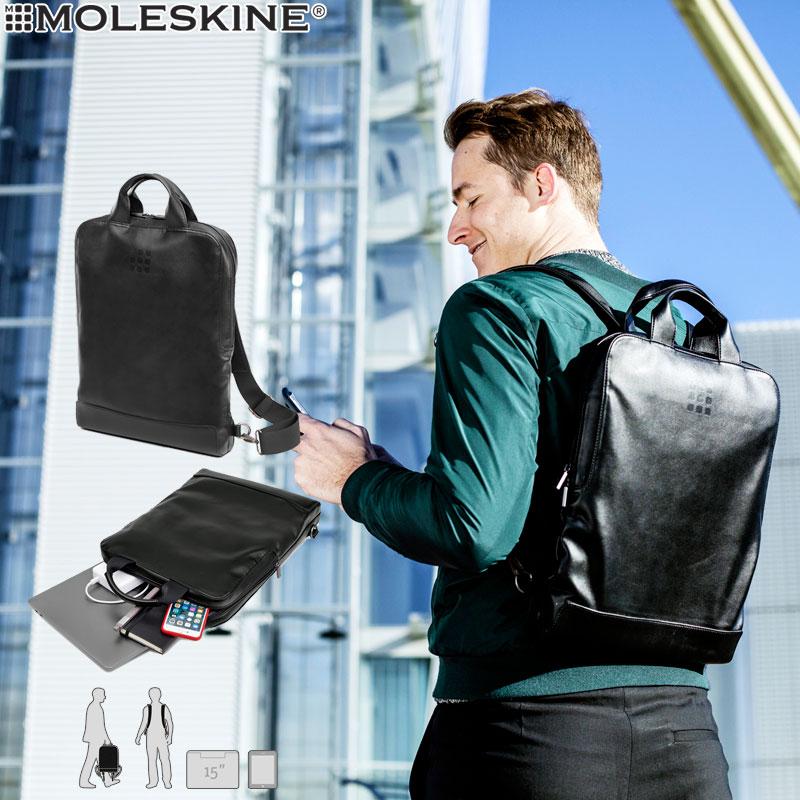 【モレスキン バッグ】モレスキン MOLESKINE クラシックバーチカルデバイスバッグ ブラック(714195)(5180281)【デバイスバッグ リュック バックパック バッグ メンズ レディース カバン おしゃれ ビジネス 大人】