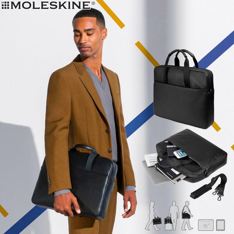 【モレスキン バッグ】モレスキン MOLESKINE クラシックスリムブリーフケース ブラック(623344)(5180462)【ブリーフケース ショルダーバッグ メンズ レディース カバン おしゃれ ビジネス 大人】