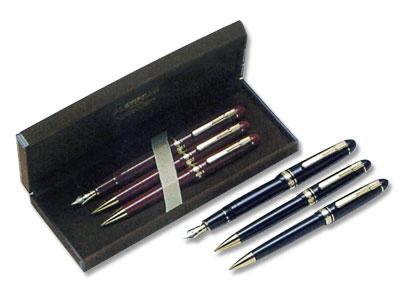 プラチナ万年筆 (プラチナ萬年筆) PRESIDENT プレジデント 万年筆 ボールペン シャープペンシル (3本セット品)