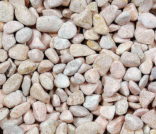 10 Kg Of Western Style Gravel Patio Pebbles Pink 3 Bag