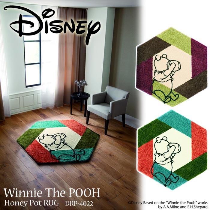 《住江織物/Disney HOME SERIES》POOH/Honey pot RUG 約95×110cm 大人ディズニー ラグマット [プー/ハニーポット] 低ホルムアルデヒド 防ダニ Winnie the Pooh くまのプーさん スミノエ 日本製 drp-4022