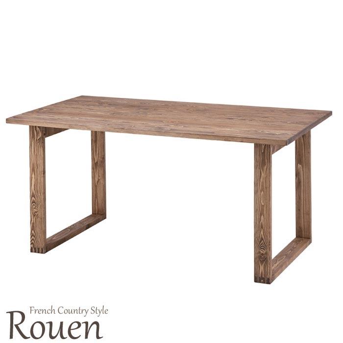 [中型家具]《東谷》Rouenルーアン ダイニングテーブル パイン材使用 約150×80cm 人気 木製 ウッド 天然木 北欧 おすすめ おしゃれ モダン シンプル ナチュラル 西海岸 食卓テーブル カフェ カントリー 新生活 オイル仕上げ cfs-841