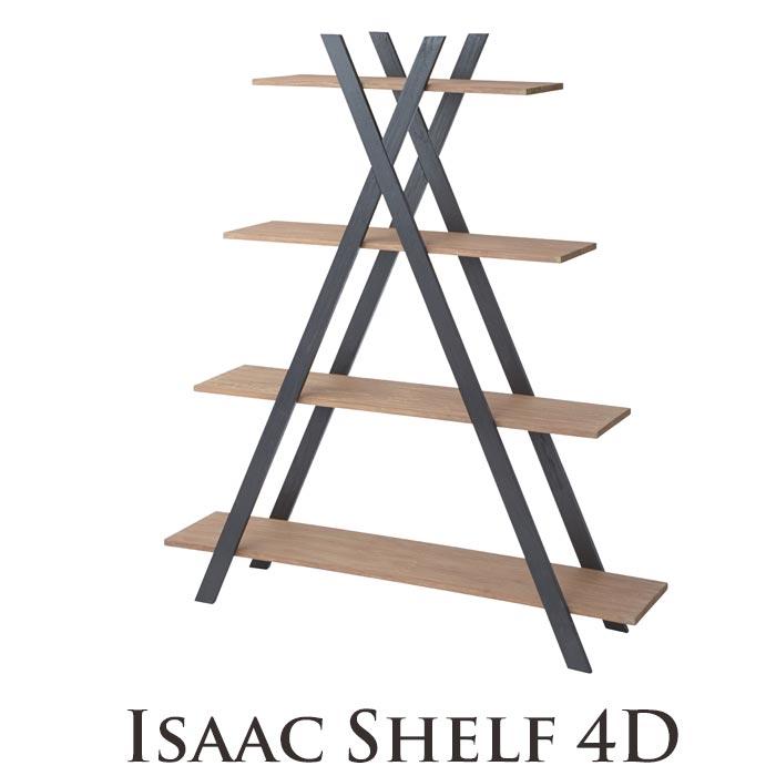 [中型家具]《東谷》isaac アイザック シェルフ4D 収納棚 4段タイプ ディスプレイ シンプル モダンシック 天然木 ミンディ使用 木製 お洒落 インダストリアル 西海岸 cafe カフェスタイル nw-860