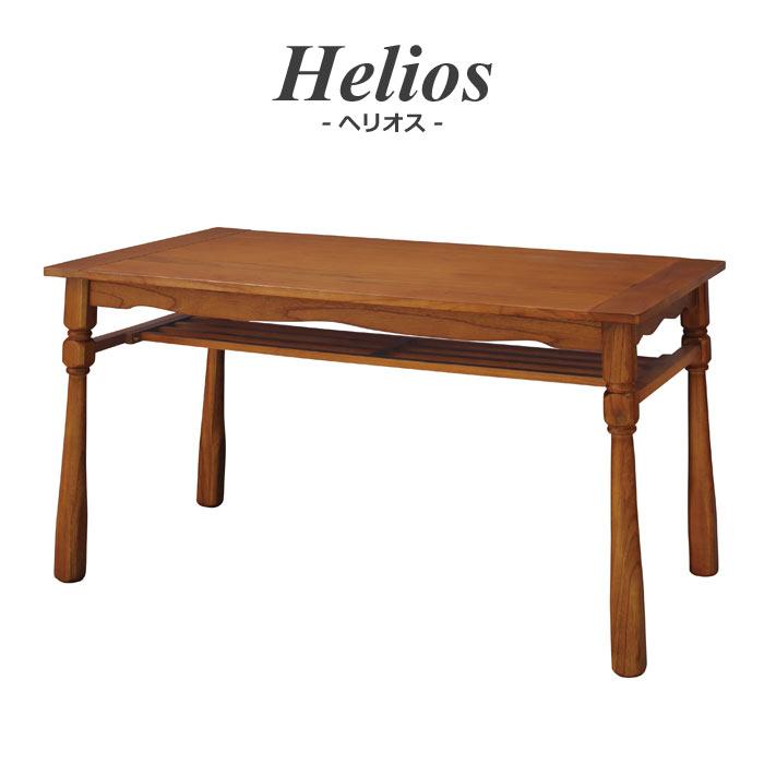 [大型家具/S]【お客様組立】《東谷》Helios ヘリオス テーブル ダイニングテーブル 食卓テーブル木製 ウッド 天然木 ミンディ使用 おしゃれ シンプル ナチュラル カントリー cafe カフェスタイル 四角型 棚付き  pm-351T