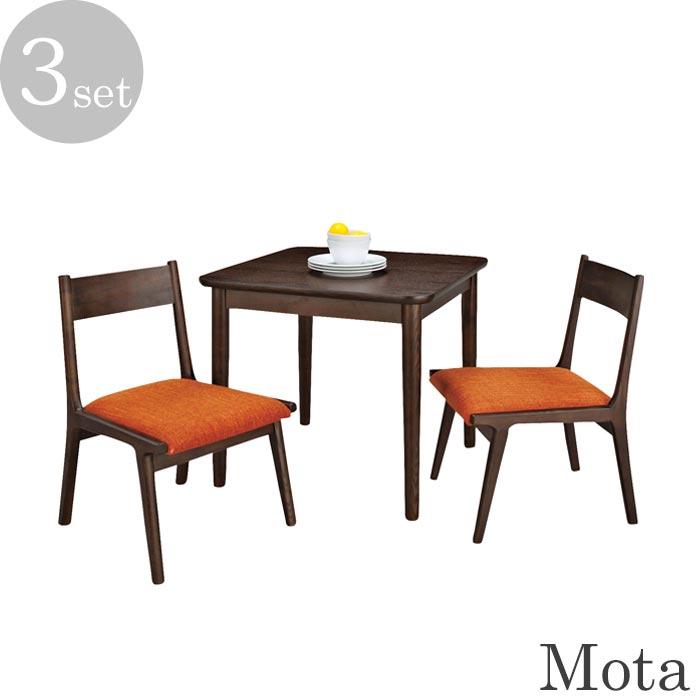完成品 チェア+組立式 テーブル 百貨店 送料無料 一部地域を除く 代引不可 付与 《東谷》Motaモタ ダイニングテーブル3点セット ブラウン アッシュ材使用 約75×75cm 人気 木製 天然木 おすすめ 食卓テーブル 2人掛け チェア 椅子 新生活 hot-332br-3set カフェ ナチュラル 西海岸 一人暮らし カントリー 北欧 シンプル