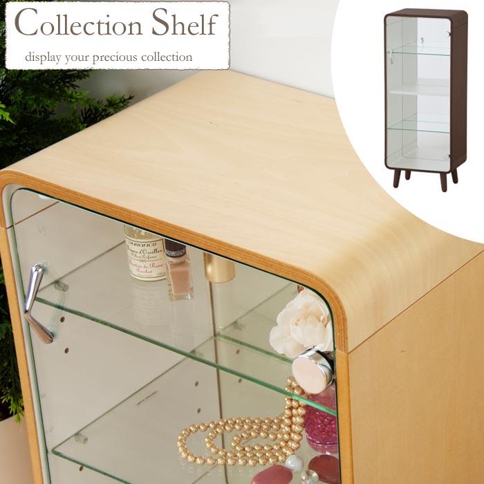 《東谷》ミラー コレクション シェルフ 高さ860mm ケース キャビネット 木製コレクションケース ディスプレイ 背面ミラー pt-612