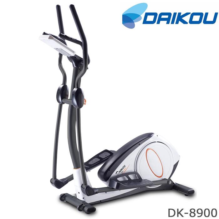 [大型S]《大広》エリプティカルバイク DK-8900 人気 おしゃれ おすすめ ステップ トレーニング フィットネス 電動マグネット式(32段階) 連続使用時間60分 時間 スピード 距離 カロリー 心拍数 移動用キャスター付 健康 在宅 テレワーク DK-8900