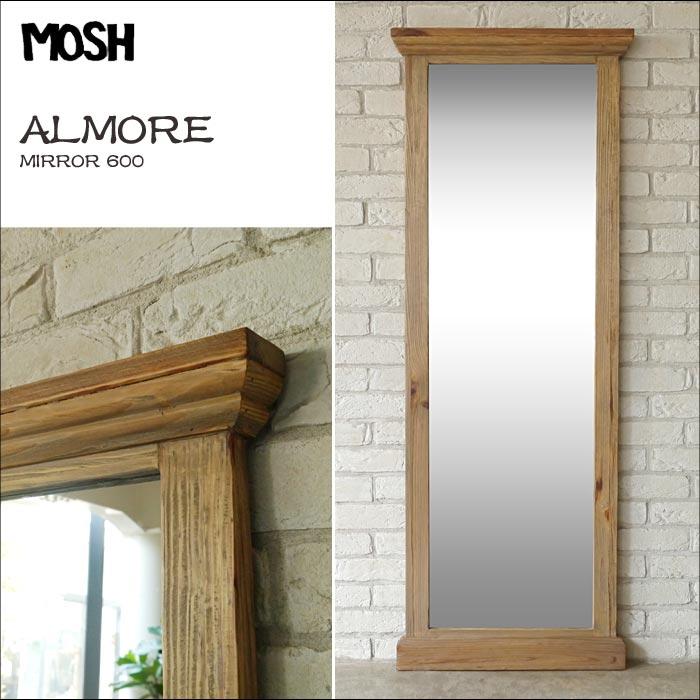 【在庫限り!早い者勝ち特価品】[開梱設置付き]《MOSH》モッシュ アルモア アンティーク スタンドミラー 60×160cm オールドエルム 古材 ビンテージ加工 OLD 什器 ディプレイ 木製 鏡 姿見 全身鏡 mirror GART インダストリアル ガルト almore-mirror-600