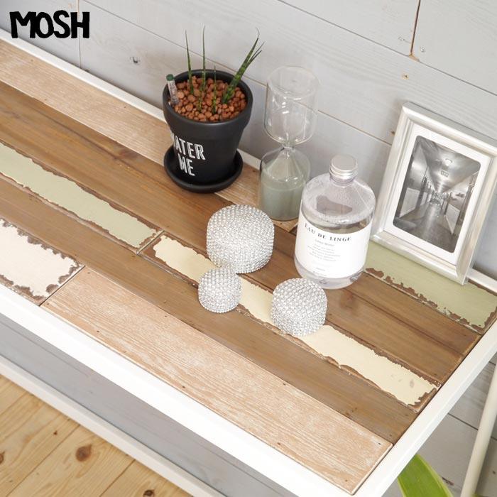[開梱設置付き]【限定品】《MOSH》モッシュ レコル ハイテーブル カウンターテーブル 木製 古材 アンティーク ビンテージ加工 什器 ディプレイ インダストリアル OLD Furniture RECOL GART ガルト recol_high