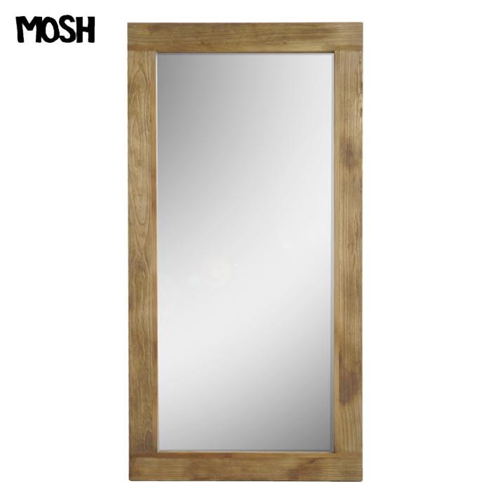 [開梱設置付き]【海外製/組立不要】《MOSH》モッシュ アル アンティーク ミラー 90×180cm オールドエルム 古材 ビンテージ加工 OLD Furniture 什器 木製 アイアン IRON アルミラー 鏡 姿見 mirror GART ガルト インダストリアル al-mirror-90-180