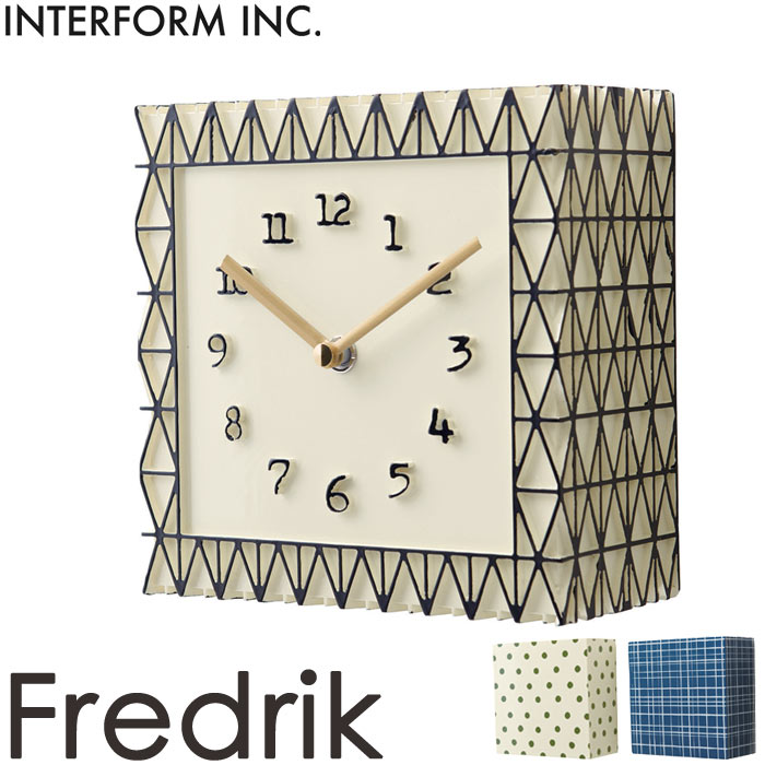 《INTERFORM》cl-1693 Fredrik フレドリク 掛時計 置時計 ボックスセットスイープムーブメント とけい かわいい ナチュラル 北欧 かけ時計 新生活 引っ越し 新築祝い 小物入れ インターフォルム