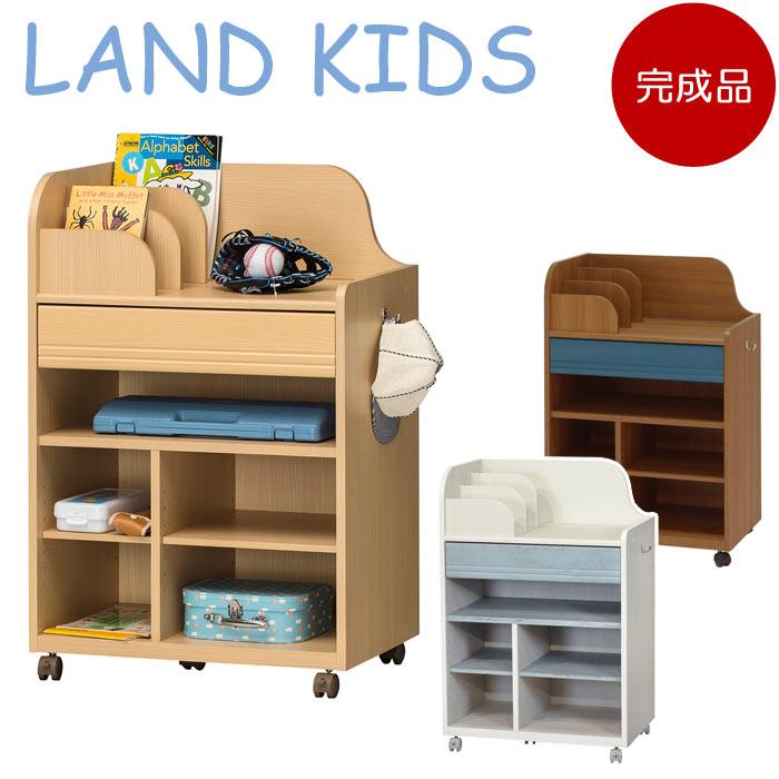 【完成品 ◎安心のメーカー国内組上げ品◎】《S-ing》LAND KIDS ランドキッズ ランドセルラック(深型) 学童期キャスター付き ランドセル置き 木製 ランドセル 子供 子ども こども 受注生産 幅62.7cm lak-9565w_kansei