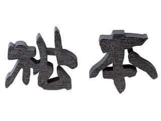 表札 アルミ鋳物文字《100mm》梨地塗り仕上げ  送料無料