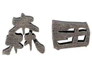 表札 アルミ鋳物文字《100mm》梨地磨き仕上げ  送料無料
