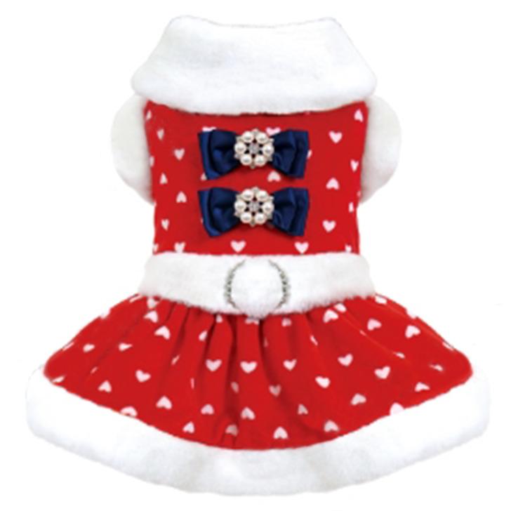 X'mas小型犬サンタさんコスチューム 小型犬 X'mas ウィンターハートドレス クリスマスコスチューム 驚きの価格が実現 ワンピース 1号 4号 2号 犬服 新作多数 サンタさん ドックウェア コスプレ 3号ロング