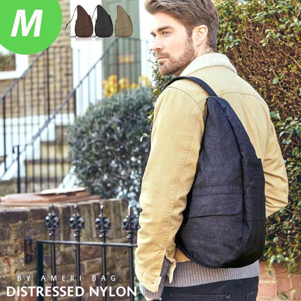 ヘルシーバックバッグ m ヘルシー バック バッグ レディース メンズ ヘルシーバッグ HEALTHY BACK ナイロン ボディバッグ 軽量 鞄 タテ型 Ameri bag アメリバッグ カイロ