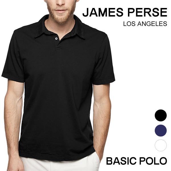 ジェームスパース メンズ ポロシャツ 半袖 James Perse 定番 スタンダード 定番 ブランド tシャツ 白 黒 シンプル MSX3337