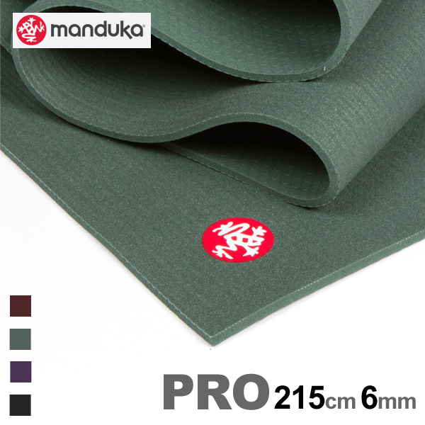マンドゥカ ヨガマット manduka pro ロング プロ 215cm 6mmブラックマット ヨガ ピラティス 高品質 マット ストレッチ 85インチ