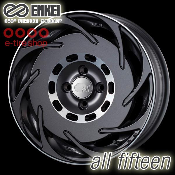 ENKEI(エンケイ) all fifteen 16×6.5J PCD100/4H +38 ハブ径:75 カラー:マットガンメタリック 注:ホイール1枚価格です