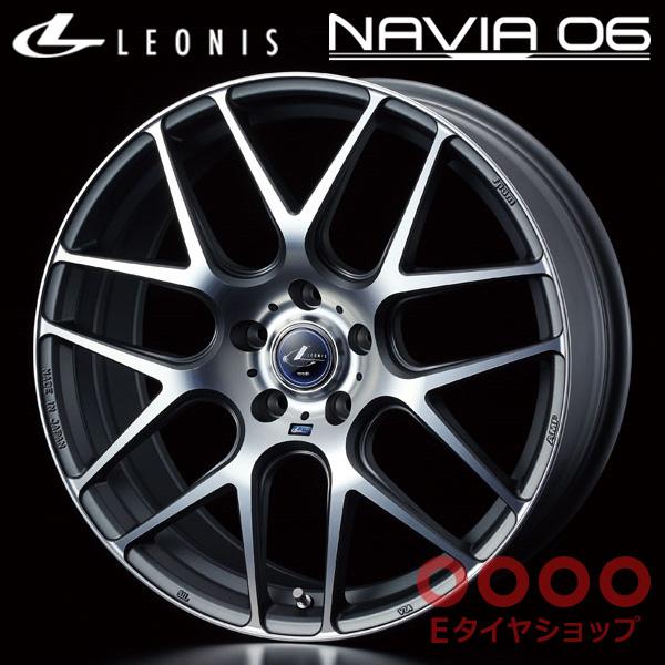 レオニス ナヴィア06 18×7.0J PCD114/5H +53 ハブ径:φ73 カラー:MGMC(マットガンメタマシニングカット)