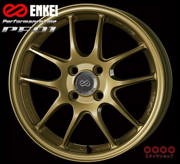 ENKEI エンケイ パフォーマンスライン PF0117インチ 7.0J PCD100/4H +45 カラー:ゴールドPerformanceLine PF01 ホイール1枚