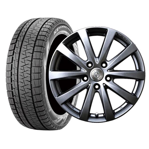 【取付対象】BMW 7シリーズ(E65/E66) 225/60R17 ピレリ アイスアシンメトリコ プラス ホイール :バラーレ 17×7.5 120/5 +23 3X159 輸入車 スタッドレス ホイールセット 4本