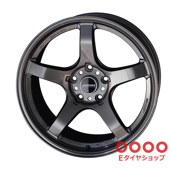 共豊 TRACER GT-V 18×10.5J PCD114/5 +15 Face3トレーサーAMEガンブラック ホイール1枚
