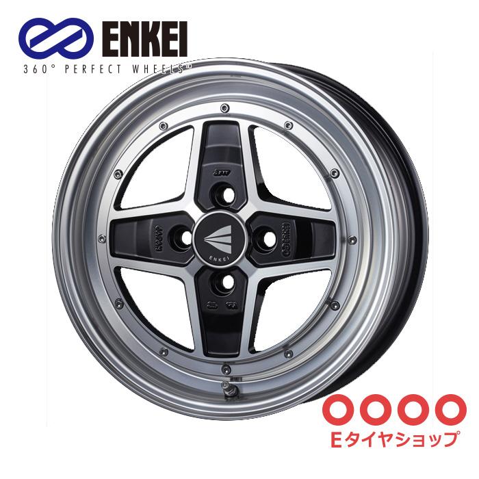 ENKEI エンケイ ネオクラシック アパッチツー 15インチ 5.0J PCD100/4 +45 カラー:マシニングブラック NEO CLASSIC APACHE2 ホイール1枚