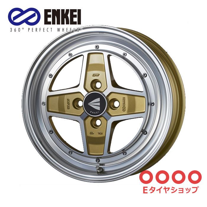 ENKEI エンケイ ネオクラシック アパッチツー 15インチ 5.0J PCD100/4 +45 カラー:マシニングゴールド NEO CLASSIC APACHE2 ホイール1枚