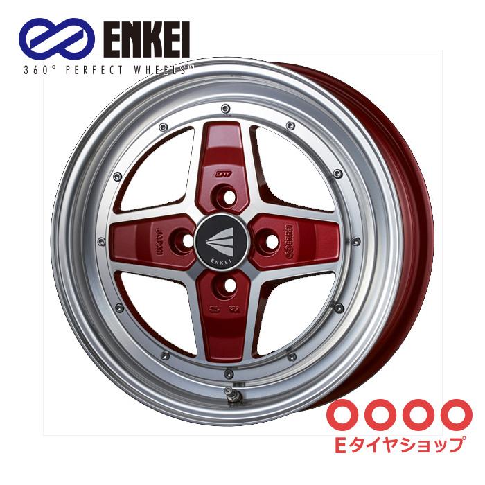 ENKEI エンケイ ネオクラシック アパッチツー 15インチ 5.0J PCD100/4 +45 カラー:マシニングレッド NEO CLASSIC APACHE2 ホイール1枚