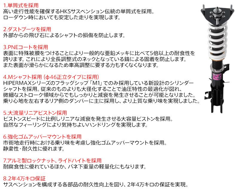 【要メーカー取寄】HKSハイパーマックスSスタイルCゼストスポーツ(JE1)用対応年式:06/03-08/11[HIPERMAXS-StyleC][80110-AH109]